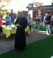 Don Renato Aldeghi inaugurazione Nadar Albiate